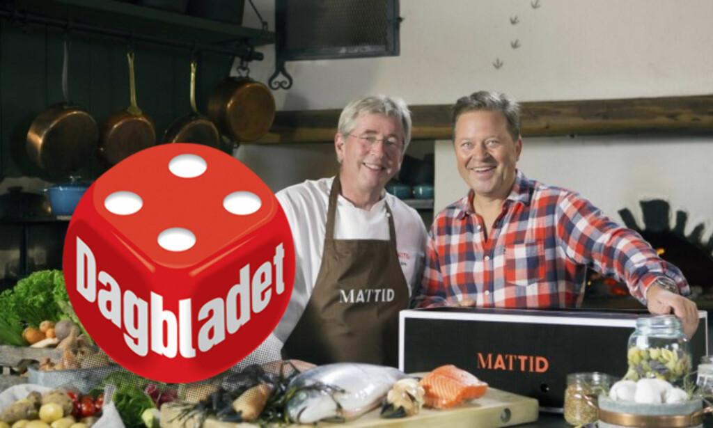 GUTTA PÅ DØRA: Dagblad-kokk Arne Brimi (til venstre) og Arne Hjeltnes er Mattids ansikter utad.
