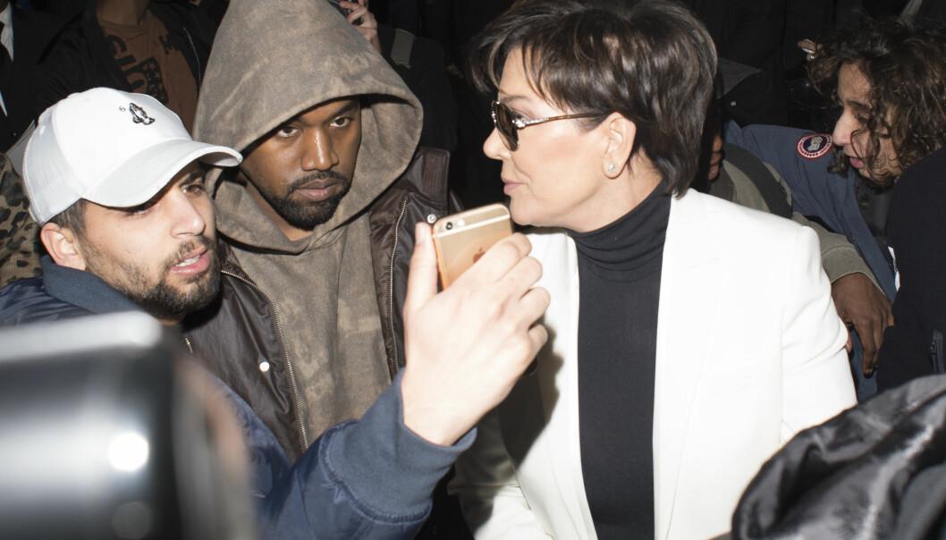 BESKYLDES FOR Å KRANGLE OM KIM: Kanye West og Kris Jenner skal ifølge Radaronline ha kranglet om Kim Kardashians TV-fremtid i ukene før han fikk et sammenbrud. FOTO: Scanpix