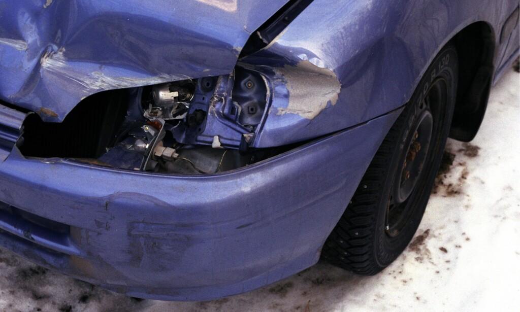 SMELL: Vanskelige kjøreforhold har gitt uvanlig mange skademeldinger hos Gjensidige det siste døgnet. Foto: NTB scanpix
