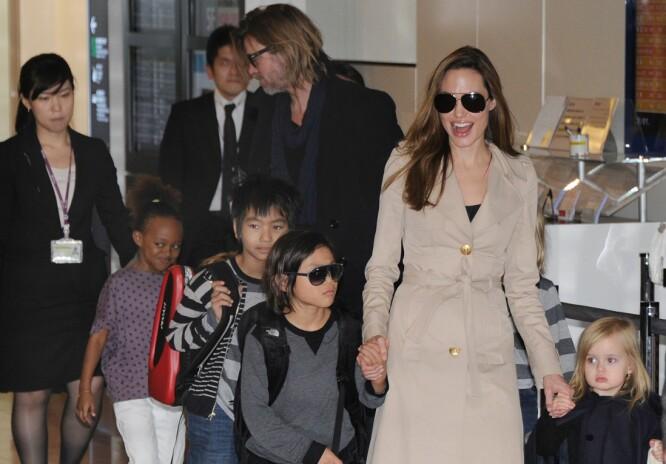 FRIKJENT: Brad Pitt er frikjent for mishandingsryktene, men Angelina vil fremdeles ikke ta han inn i varmen. Foto: Scanpix