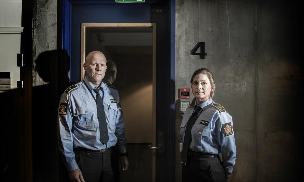 ETTERFORSKET NETTOVERGRIPERE: Politiadvokat Marianne Høyer og etterforskningsleder Roy Hoøen jobbet intenst i over ett år med overgrepssaker mot barn på nett. Det førte til 13 pågripelser av menn i alle aldre. Foto: Hans Arne Vedlog  / Dagbladet