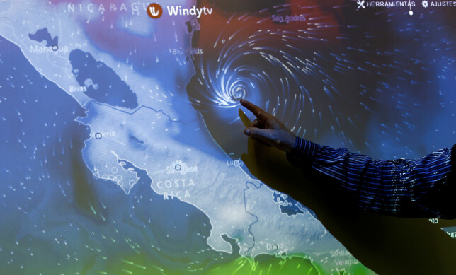 HERJER: Orkanen Otto. Foto: REUTERS/ Juan Carlos Ulate