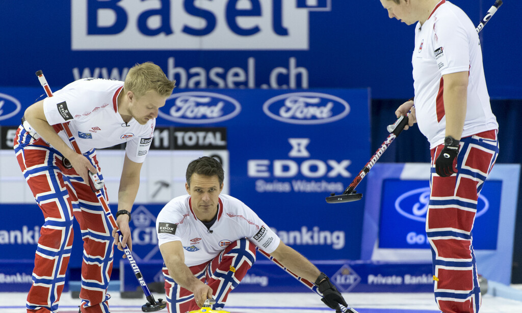 KLARE FOR EM-FINALE: De norske gutta slo i kveld Sveits. Foto: Scanpix