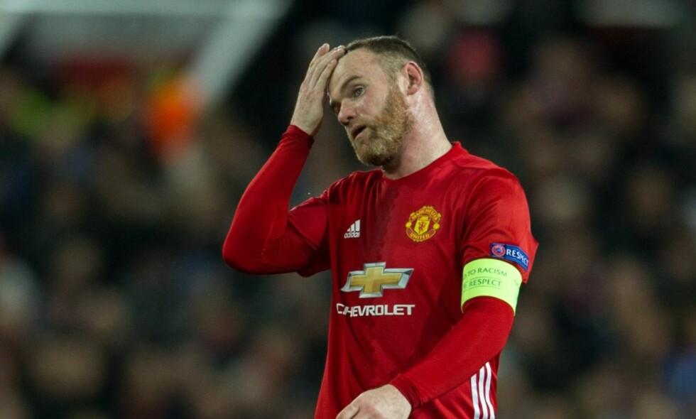 SINT: Manchester Uniteds Wayne Rooney. Foto: EPA/PETER POWELL