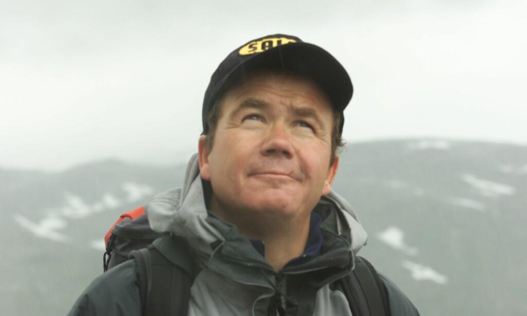 Fjellklatrer: For tiden er Jon Gangdal aktiv som forfatter, men han er også kjent som en legendarisk fjellklatrer. Her er et arkivbilde fra en gang han var på Jotunheimen. Foto: Christina Krüger