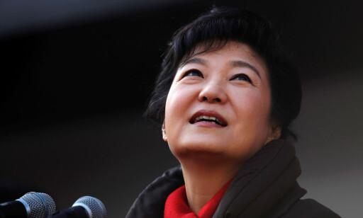 Reise: Sør-Koreas president Park Geun-hye har fått sterk kritikk etter å ha kjøpt 364 Viagra-piller i forbindelse med en reise til Afrika. Foto: Kim Hong-Ji / Reuters / NTB Scanpix