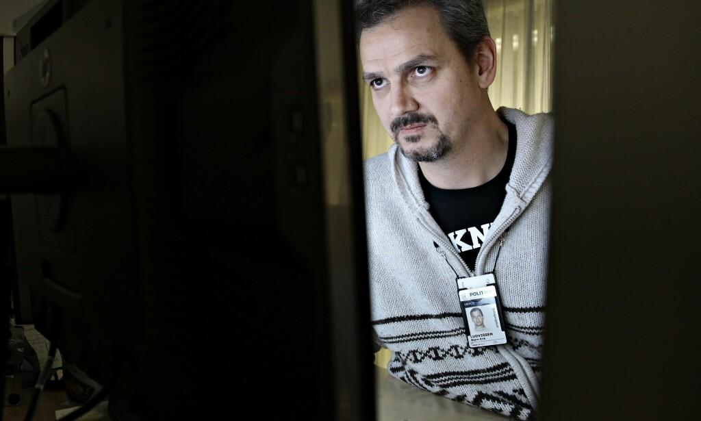 EN GROTESK VERDEN: Bjørn-Erik Ludvigsen ved Kripos' seksjon for seksuallovbrudd sier at det mørke nettet er noe folk ikke vil vite så mye om. Foto: Aftenposten / Scanpix