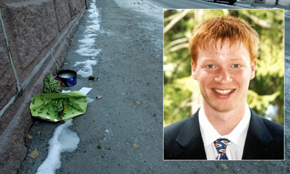 DREPT: Egil Tostrup Bråten (23) ble funnet livstruende skadd få meter fra sin egen inngangsdør i Oslo sentrum. Han døde kort tid etter på sykehus. Foto: Erik Johansen, politiet / NTB Scanpix