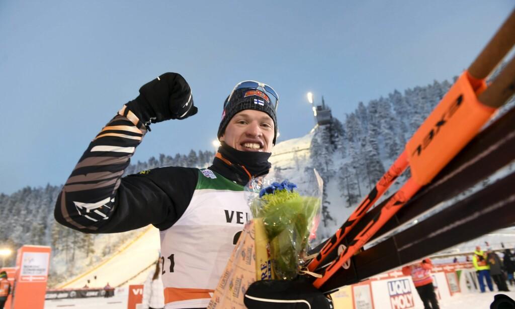 STOR SEIER: Iivo Niskanen tente et godt finsk håp foran VM på hjemmebane i Lahti. Da er det på tide å legge vekk den trste forhistorien. FOTO : AFP / Lehtikuva / Martti Kainulainen