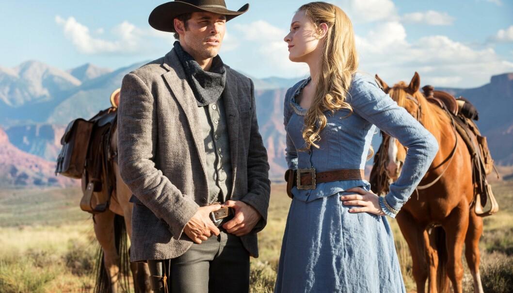 TV-STJERNE: Evan Rachel Wood gjør for tiden suksess i HBO-serien «Westworld». Foto: HBO Nordic.