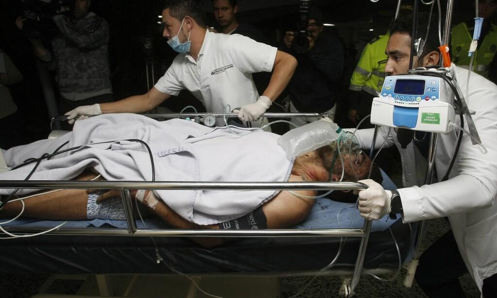 OVERLEVDE: Alan Ruschel på sykehuset San Juan de Dios. Foto: EPA/LUIS EDUARDO NORIEGA A.
