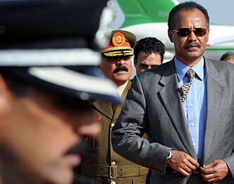ØNSKET MØTE: Roger Jensen og Tekeste Tesfamicael reiste til Asmara i Eritrea for å møte diktator Isaias Afwerki. Møtet ble aldri noe av. Foto: AP