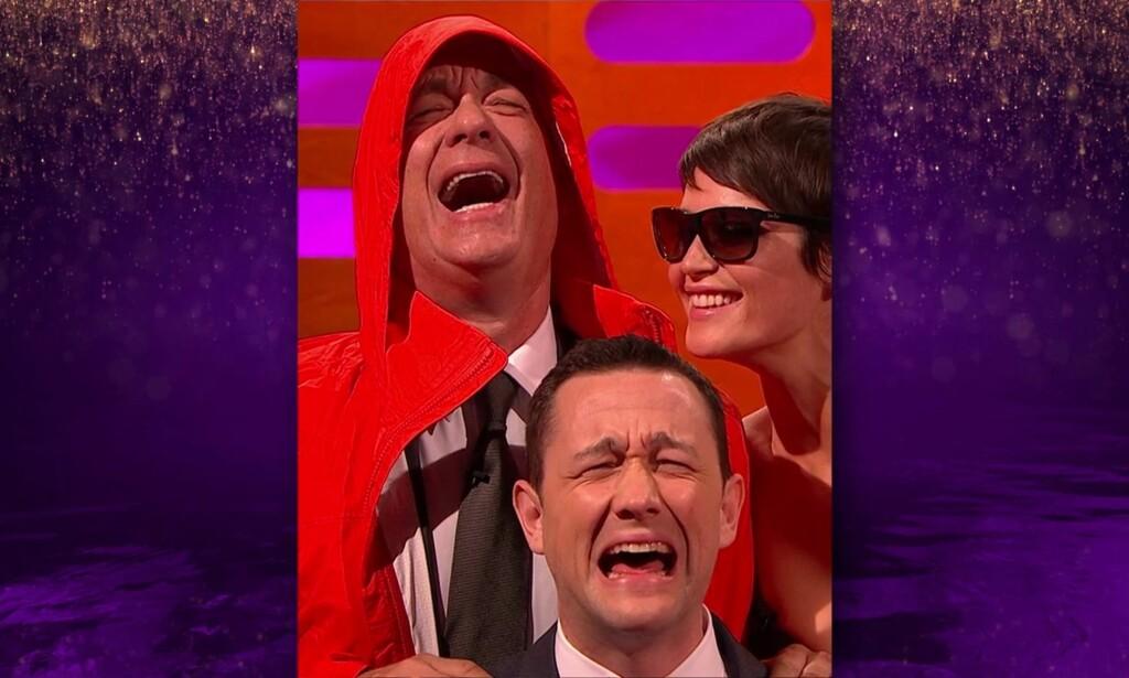 GJENSKAPT: Nå er bildet blitt gjenskapt, med Tom Hanks i hovedrollen (som Bill Murray), Gemma Arterton som Laura Di Michele-Ross, og Joseph Gordon-Lewitt som sønnen hennes. Foto: Xposure