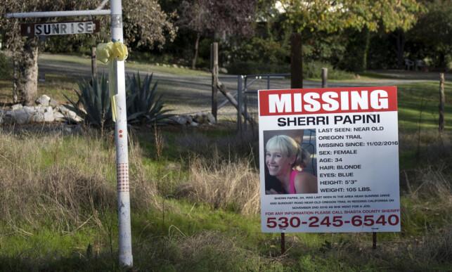 SAVNET: Sherri Papini var på en løpetur da hun ble borte. Tre uker seinere ble hun plukket opp langs en motorvei over 200 kilometer unna, med fysiske skader. Foto: (Andrew Seng/The Sacramento Bee via AP/NTB scanpix
