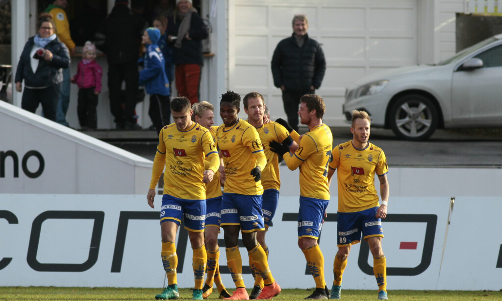 PROTEST: Stabæk har levert inn en protest og vil ikke møte Jerv på Levermyr stadion i Grimstad. Dette på grunn av frost i bakken. Foto: Tor Erik Schrøder / NTB scanpix