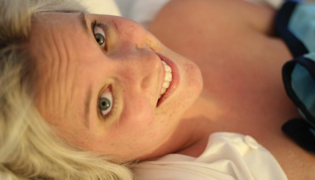 FOKUSERER PÅ Å TENKE POSITIVT: Emmeli Lindström sier hun aldri har hatt det så bra som når hun har født barn. Foto: Privat