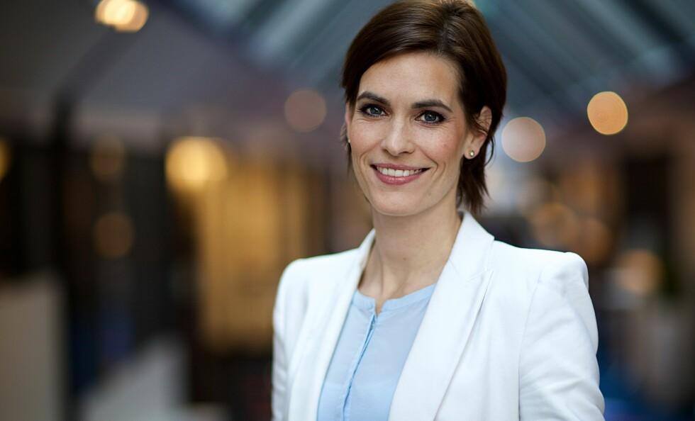 NY JOBB: Dyveke Buanes har vært nyhetsanker i TV 2 siden 2008. Nå bytter hun arbeidsgiver, og går inn i rollen som distriktsredaktør i NRK Hordaland. Foto: Geir Egil Skog / TV 2