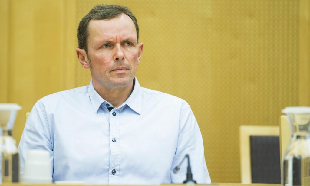 REPRESENTERER SØNNEN: Lars Kristoffersen representerer sønnen Henrik i retten. Han forklarte seg om sponsorstriden. Foto: Håkon Mosvold Larsen / NTB scanpix