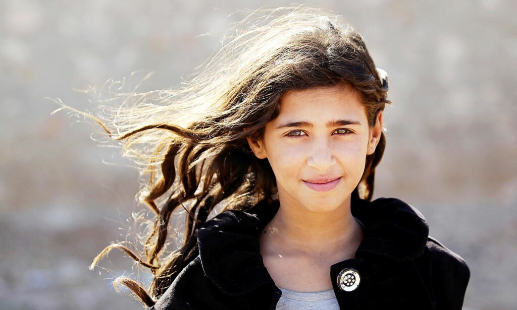 DOOA: Ti år gamle Dooa flyktet med sine foreldre fra IS-områder i Aleppo. Foto: NTB Scanpix
