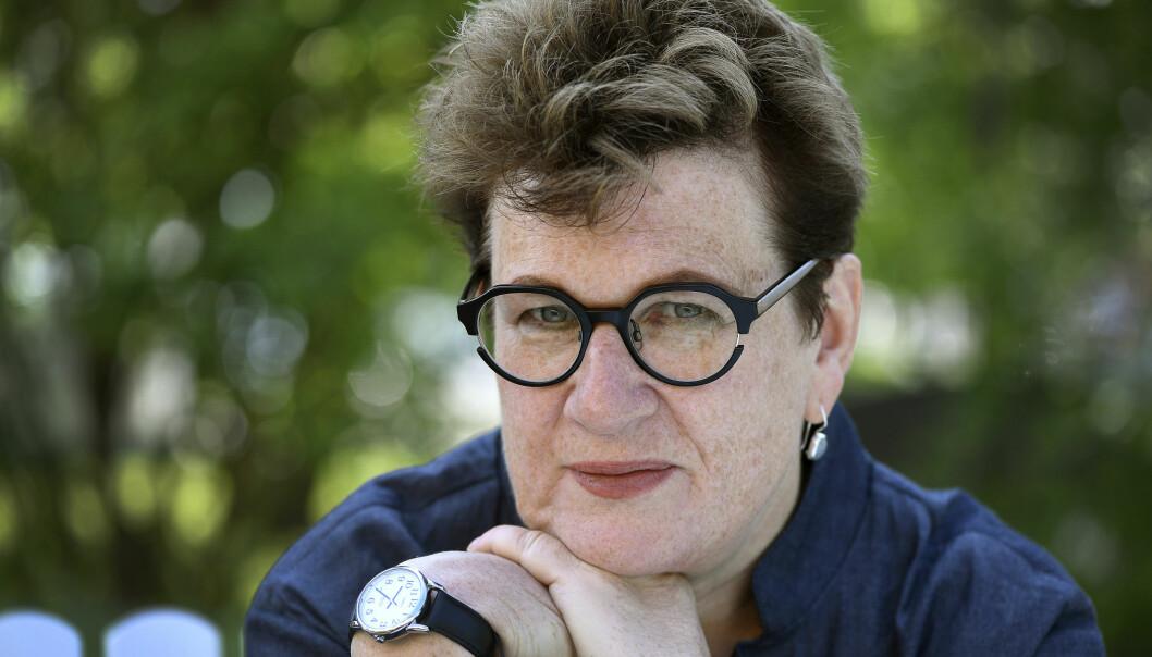 BISARR VERDEN: Den britisk-amerikanske forfatteren Meg Rosoff har vunnet flere priser, blant andre Astrid Lindgrens minnepris. Foto: Anders Wiklund / TT / NTB scanpix