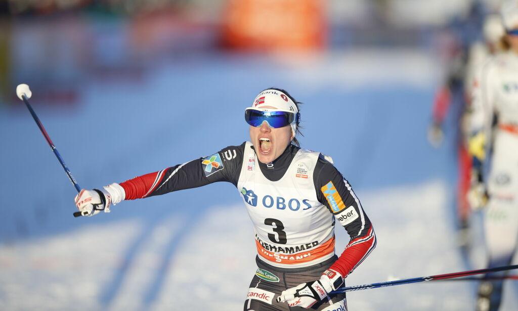 image: I sommer orket hun ikke å trene med de andre skijentene. Nå er Heidi Weng den nye langrennsdronninga