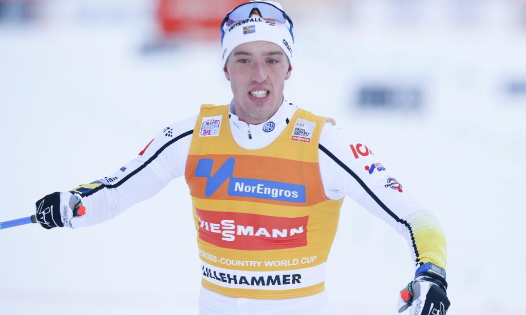 VANT IGJEN: Calle Halfvarsson er høyt oppe om dagen. Astmadiagnosen i sommer har hjuplet ham til å holde seg frisk i oppkjøringen. <br>Foto: Terje Pedersen / NTB Scanpix