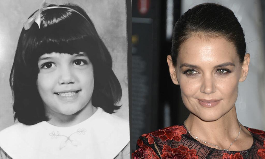 LIK SEG SELV: Skuespiller Katie Holmes er en av kjendisene som stadig deler bilder fra barndommen i sosiale medier. Foto: NTB scanpix