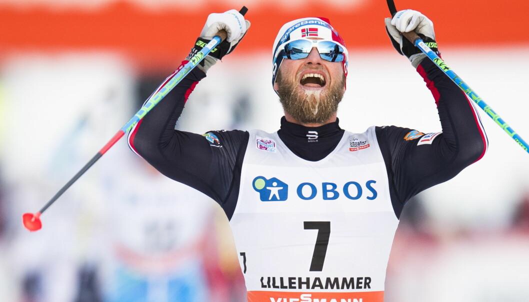 <strong>VANT:</strong> Martin Johnsrud Sundby gikk til topps i minitouren på Lillehammer. Foto: Jon Olav Nesvold / NTB scanpix