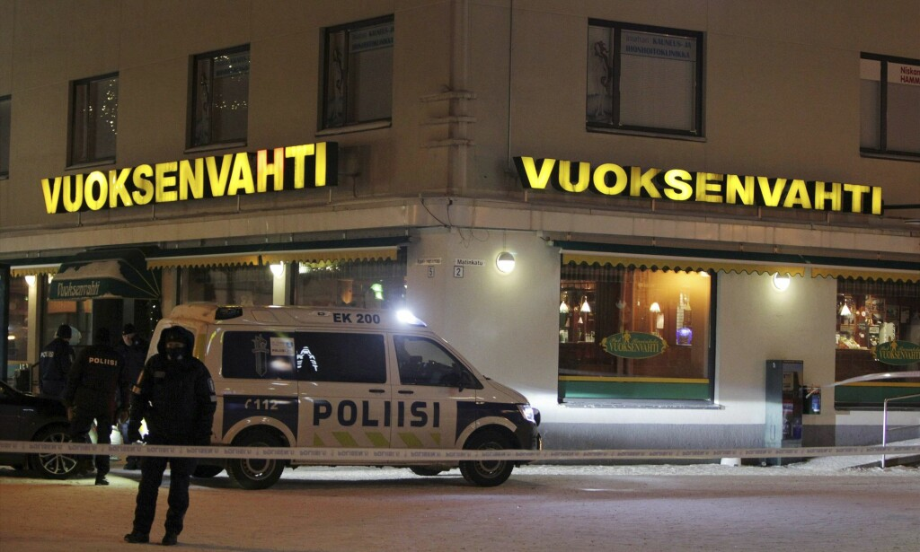 DRAP: Tre kvinner, to journalister og en politiker, ble ved midnatt skutt og drept utenfor en restaurant i den finske byen Imatra. Foto: AFP / NTB Scanpix