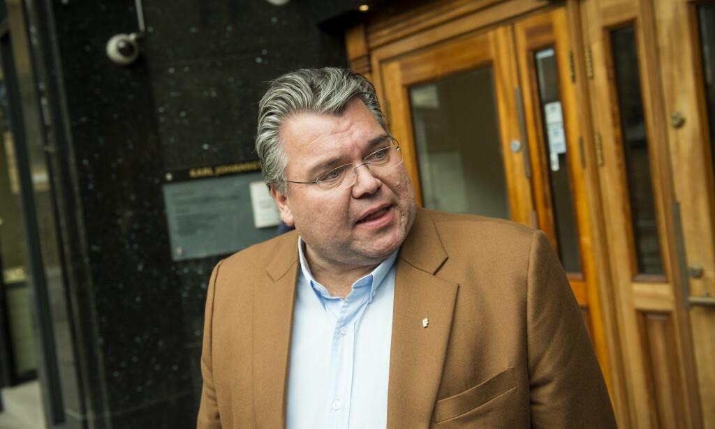 RØRER IKKE PENGENE: Morten Wold lover at Frp ikke kommer til å ta penger fra teateret som kaller flere partimedlemmer rasister. Foto: Fredrik Varfjell / NTB scanpix
