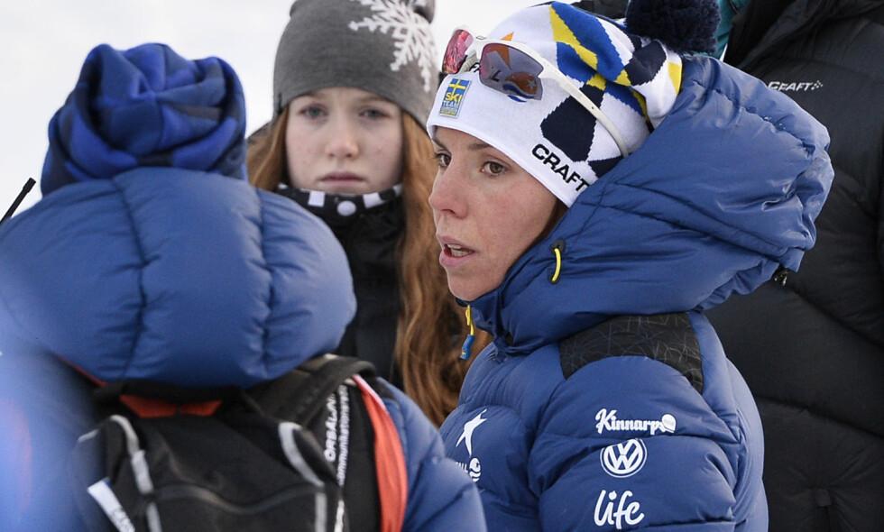 KJEMPER SEG TILBAKE: Charlotte Kalla. Foto: Anders Wiklund/TT / NTB scanpix