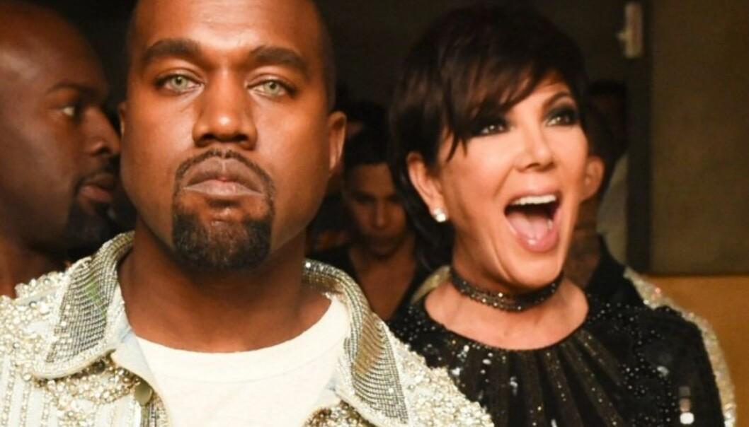 KRANGLET: Kanye West og Kris Jenner har som regel et ganske godt forhold, men nå skal de ha kranglet om Kim Kardashians fremtid i tv-bransjen. Foto: Scanpix