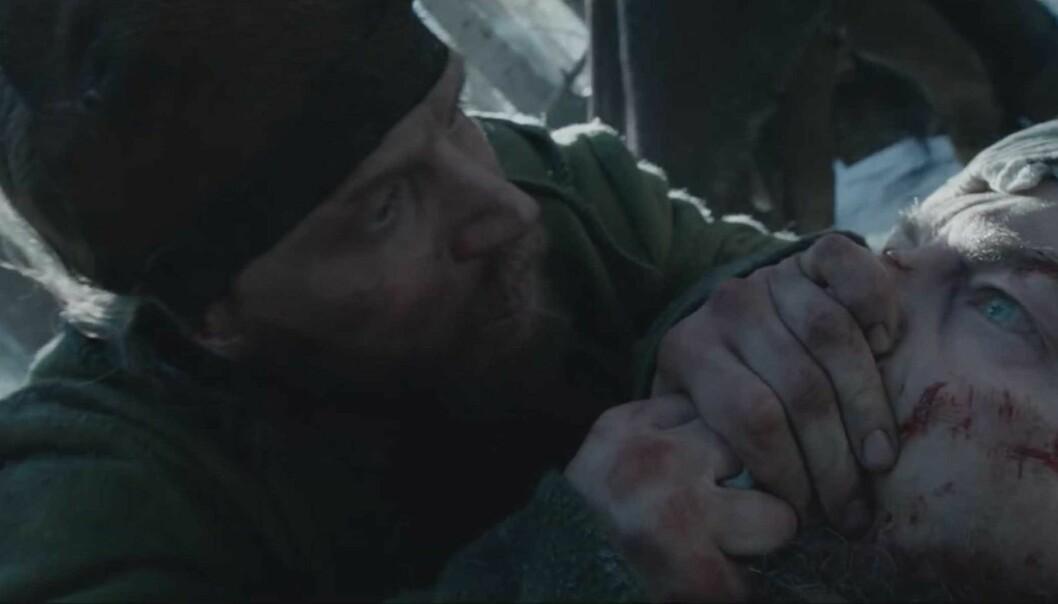 OSCAR-NOMINERTE: Tom Hardy som John Fitzgerald og Leonardo DiCaprio som Hugh Glass i dramaet «The Revenant». Foto: Scanpix.
