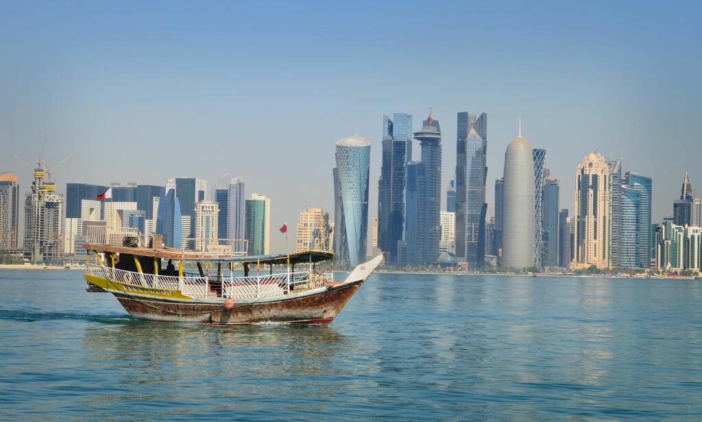 MODERNE I EN FEI: Doha har utviklet seg i en kjempefart, fotball-VM i 2022 er et stort mål. Foto: Marte Veimo