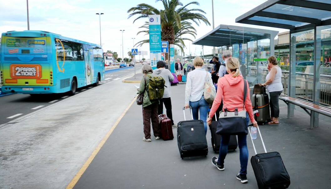<strong>FRA FLYPLASSEN:</strong> Du kan velge buss eller taxi fra flyplassen i Las Palmas - vi har prøvd begge deler. Foto: Ole Petter Baugerød Stokke