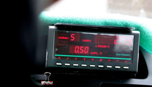 <strong>SKAL HA TAKSAMETER:</strong> Styr unna taxier uten taksameter, som da antakelig er pirattaxier. Foto: Ole Petter Baugerød Stokke