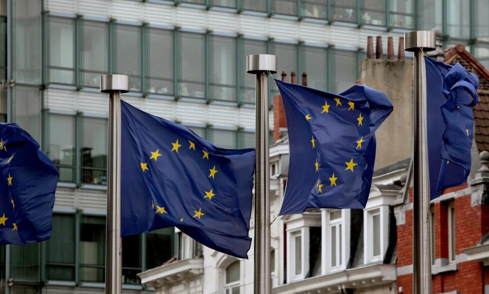 """BRUSSEL: EØS-avtalen må ikke reforhandles eller sies opp, advarer artikkelforfatteren. Foto: Olivier Hoslet /  EPA /&nbsp;<span style=""""background-color: initial;"""">NTB Scanpix</span>"""