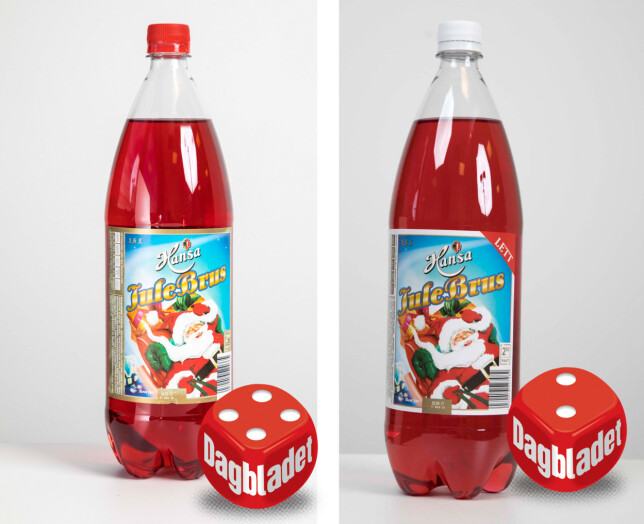 Hansas julebrus er utpreget kunstig på smak, men kommer unna med det i den originale brusen.