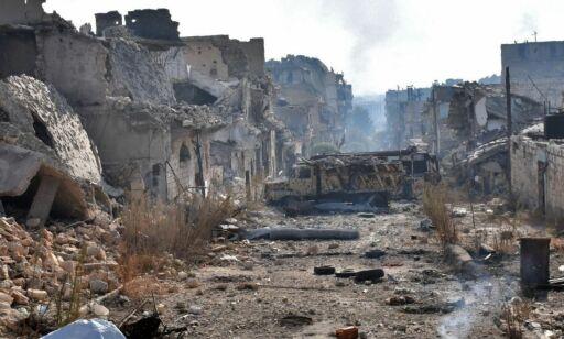 image: - Ødeleggelsene i Øst-Aleppo er ufattelige. Som en legolandsby der alt er tråkket i stykker