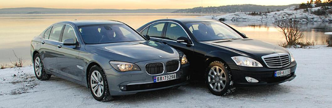 BMW 730d mot Mercedes S 320 CDI
