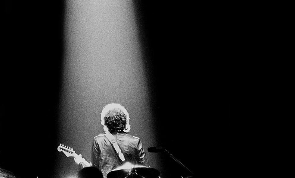 Da han var i Sverige: Dagbladets Tom Martinsen tok dette bildet av Dylan i Gøteborg i 1979. Foto: Tom Martinsen<div><br></div>
