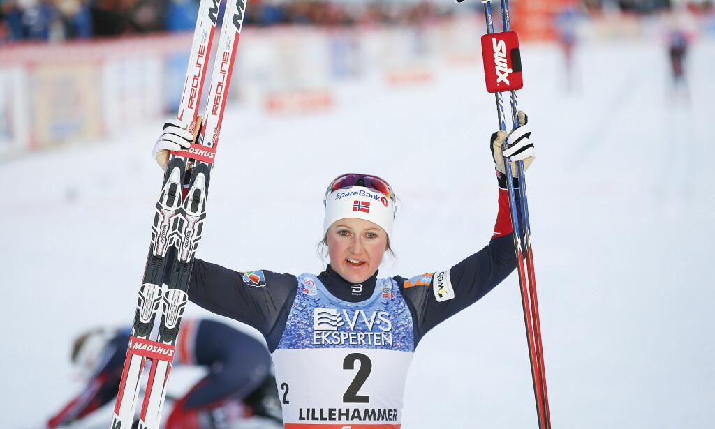KNOCKOUT: Ingvild Flugstad Østberg vant dagens 15 kilometer. Her er hun fra en tidligere anledning. Foto: Terje Pedersen / NTB scanpix
