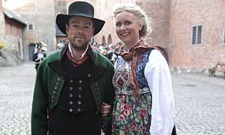 TOBARNSFORELDRE: Torbjørn Røe Isaksen og kona Henriette Ringnes avbildet på Stortingets avslutningsfest på Akerhus Slott i Oslo i 2013. Foto: Lise Åserud / NTB scanpix