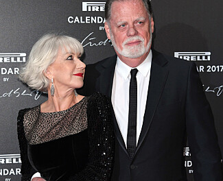 STØDIG PAR: Helen Mirren og Taylor Hackford har snart vært gift i 20 år. Foto: David Fisher/REX/Shutterstock/ NTB scanpix