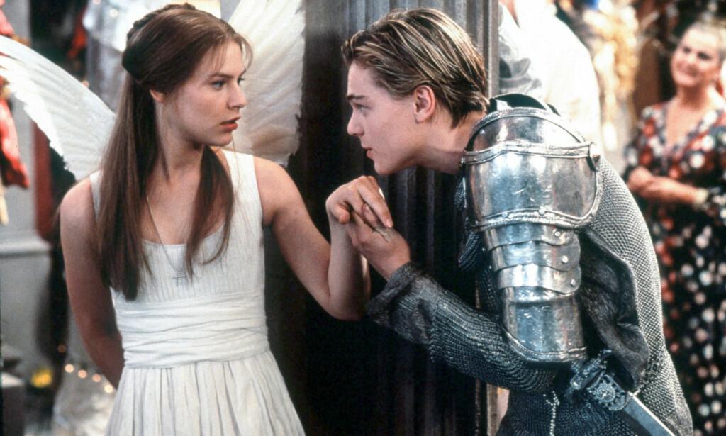 SPILTE KJÆRESTER: Claire Danes og Leonardo DiCaprio spilte hovedrollene i filmen som ble gitt ut for 20 år siden. Foto: NTB scanpix