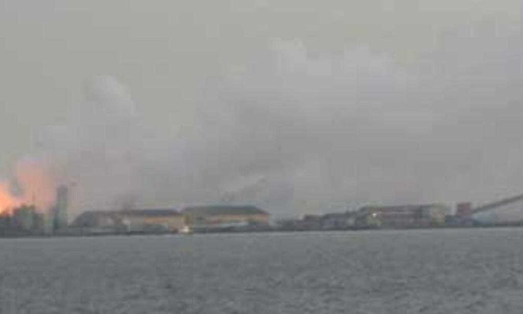 image: Det brenner ved spesialavfalls-anlegg