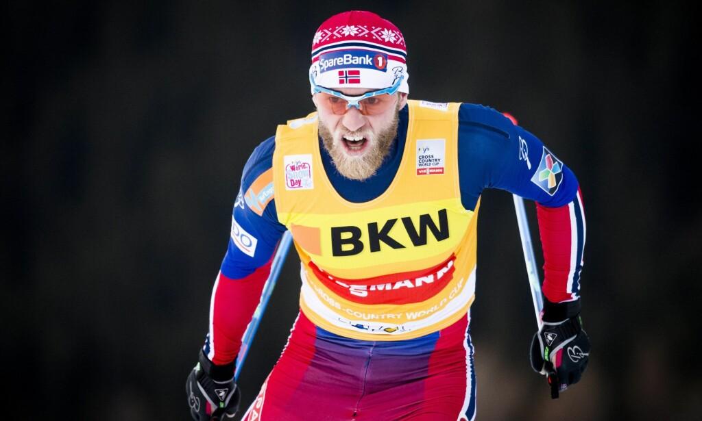 IKKE MED: Martin Johnsrud Sundby blir ikke å se i sprintkvartfinalene. Foto: EPA / GIAN EHRENZELLER / NTB Scanpix