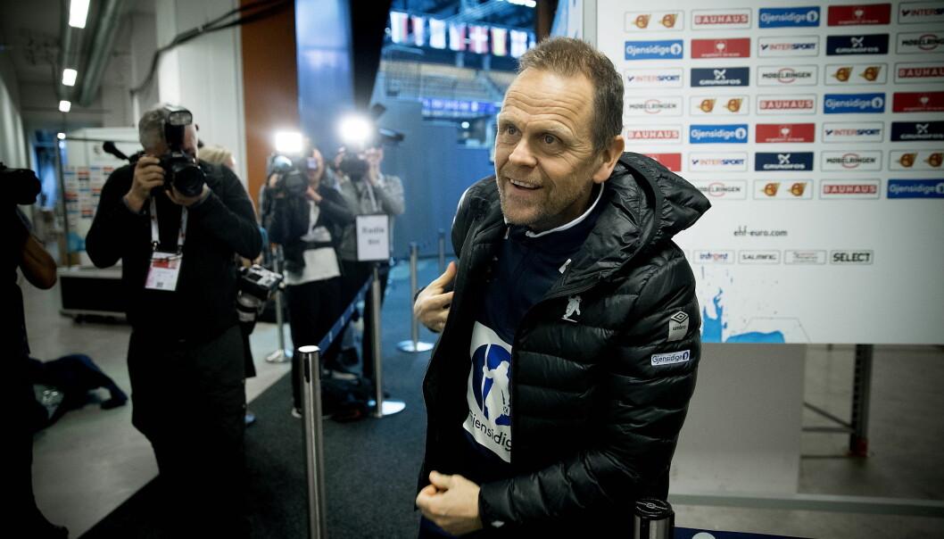 KLAR TIL KAMP: Landslagstrener Thorir Hergeirsson  har fått en superstart på EM og møter Danmark til toppkamp i kveld. Foto: Bjørn Langsem / Dagbladet