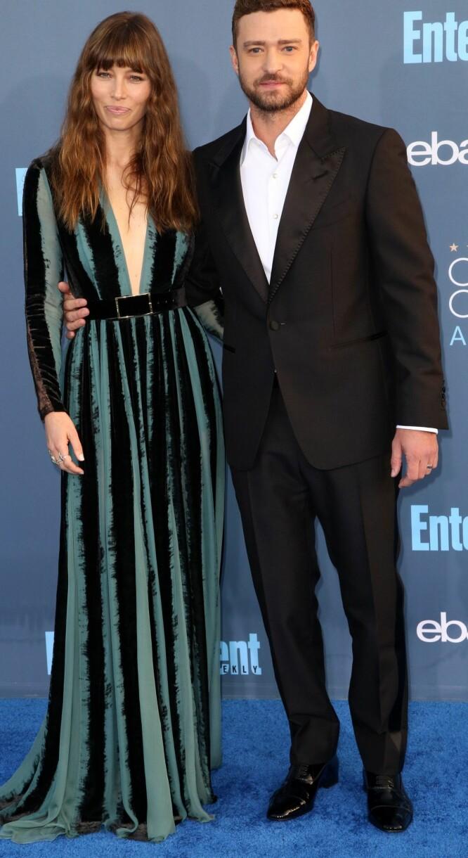 ELEGANT PAR: Jessica Biel og Justin Timberlake. Foto: Scanpix