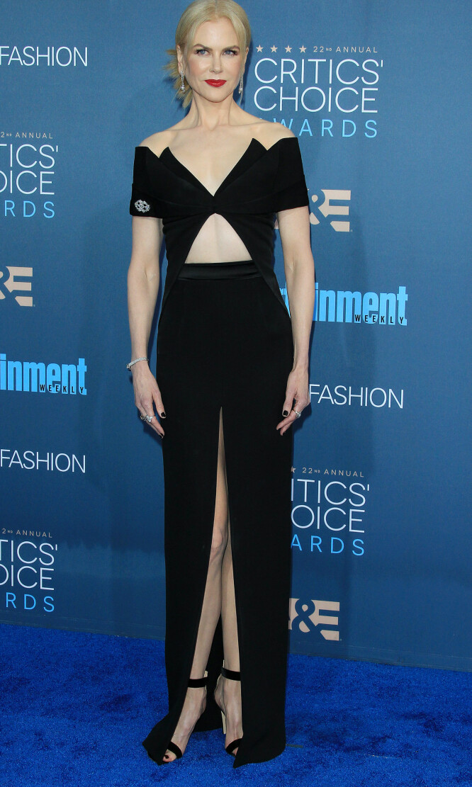 ELEGANT: Nicole Kidman kom i en designer kjole fra Brandon Maxwell. Foto: Scanpix